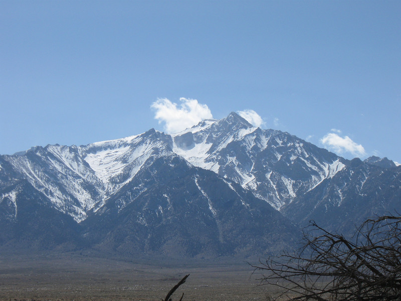 Mount Whitney is one of these peaks in this and the following photos.  Cooper took this shot.