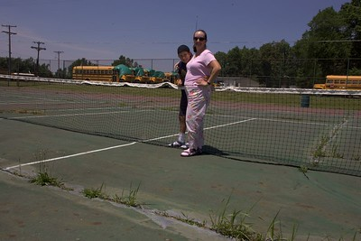 Amy's first tennis court (Mansfield, OH)