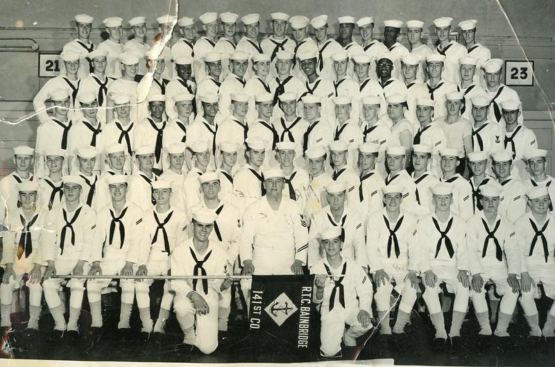 "Allen Gross""s Navy Picture <br /> Bottom right holding banner"