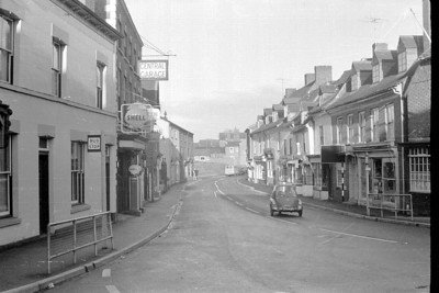 Broad St Newent, note the bubble car!