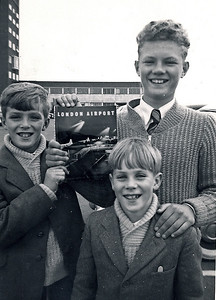 Anthony, Ian & Neil at Heathrow airport in the 50's
