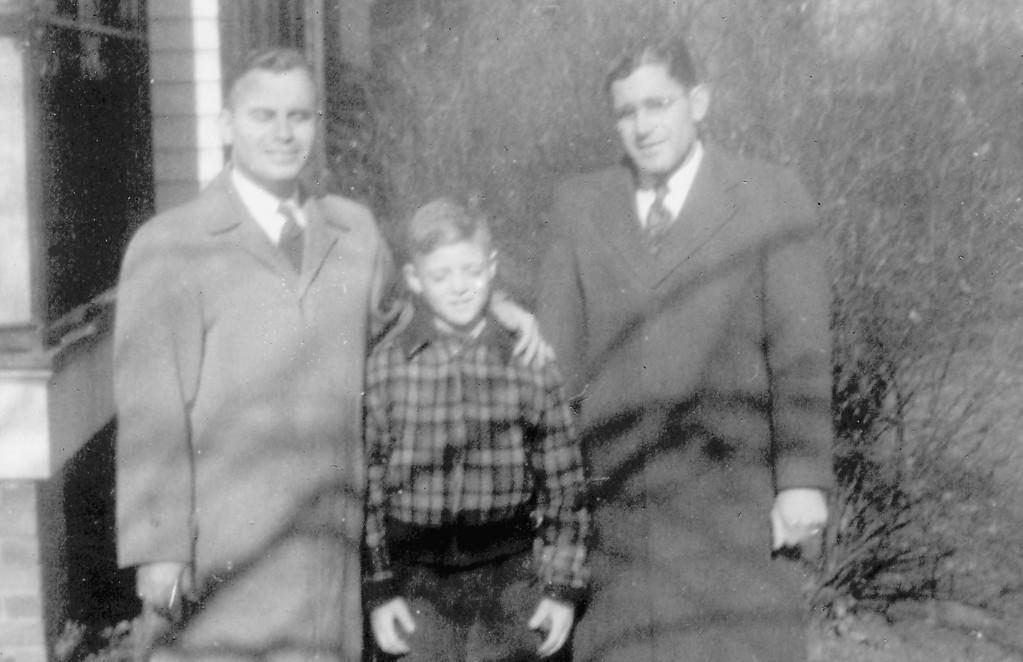 """Merrill White, Tommy White, Vernon """"Kikie"""" White. Uncle, son, father."""