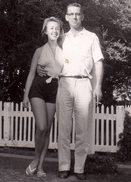 Mary Katherine Carlisle, daughter of Sanford and Katherine, with her Uncle Elwood.