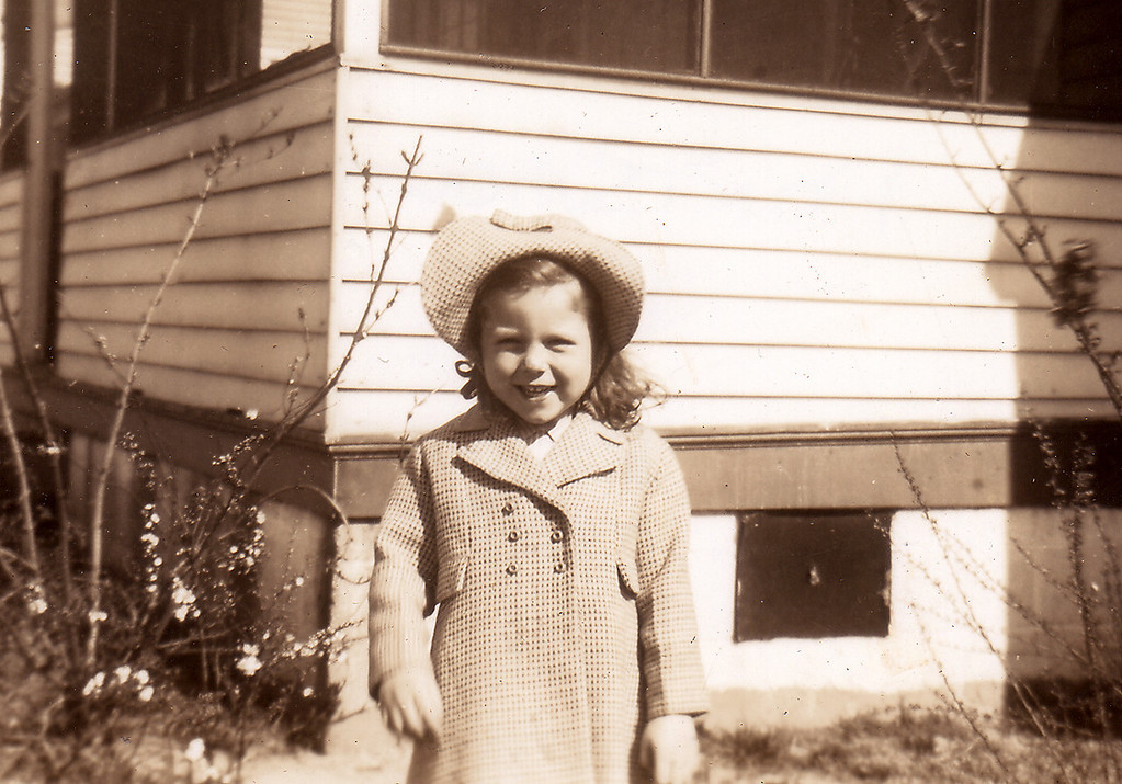 Marion Adelaide Penny Perrine, happy as can be. Lanier Crescent in Portsmouth.