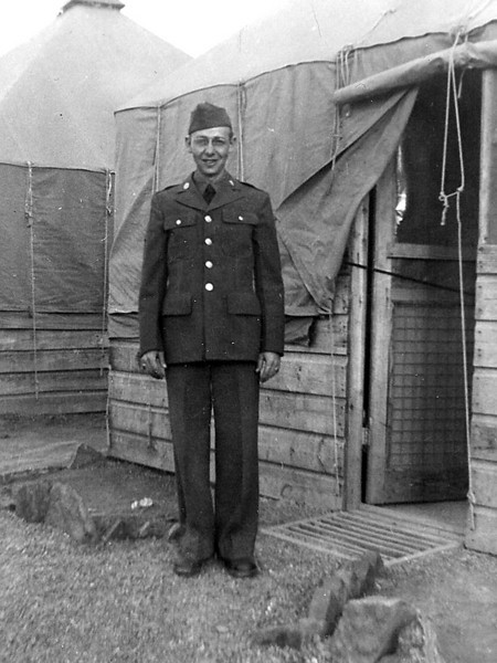 Forrest Coker - 1942 military training before being shipped of to the European theater during world 2 at Camp Robinson, AR.  He was 23 years old