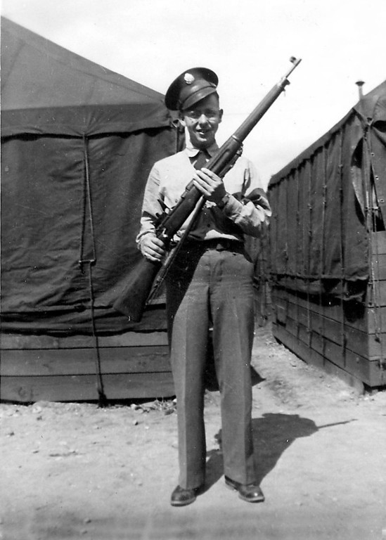 Forrest E Coker - 1942 military training at Camp Robinson, AR - 1942 - Dad was 23 years old.