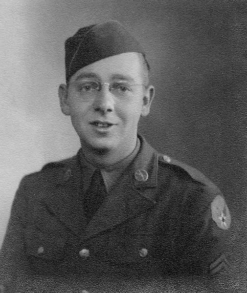 Forrest Coker by the rank on his arm, this was taken after the war.  He served in the US Army from 1942 to 1945, until the end of the conflict.