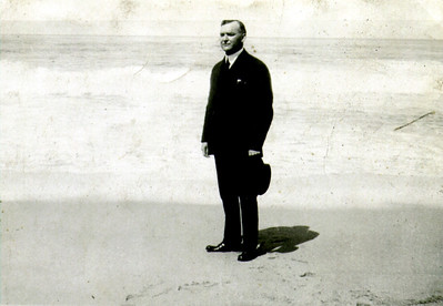 J U Eldredge Jr at Beach 1920