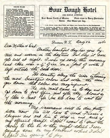 1940 Letters from the Yukon