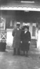 Albert and Emma Parkhouse, early 1920's, in front of the San Pedro Street house.