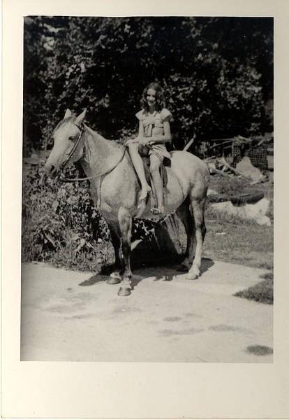 Darlene Hill on horseback.