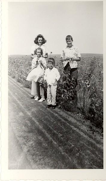 Jewel Hill with Darlene, Jack and Donald.