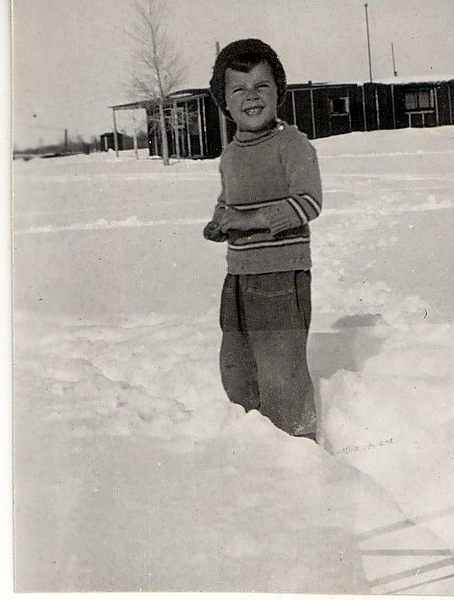 Donald Hill in the snow, McFadden, WY.