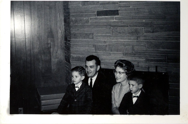 Taken Thanksgiving Day 1965 at Roland and Anita's house at 71st Way in Long Beach. Brian age 5, Jack, Elaine and Bruce age 3.