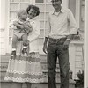 Grandma Jewel Hill holding baby Richard Johnson, and Jack Hill, August 1954.