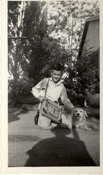 Jack Hill and his dog.