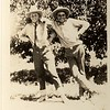 """Clovis """"Buster"""" Hill and Ted in Wyoming 1925."""