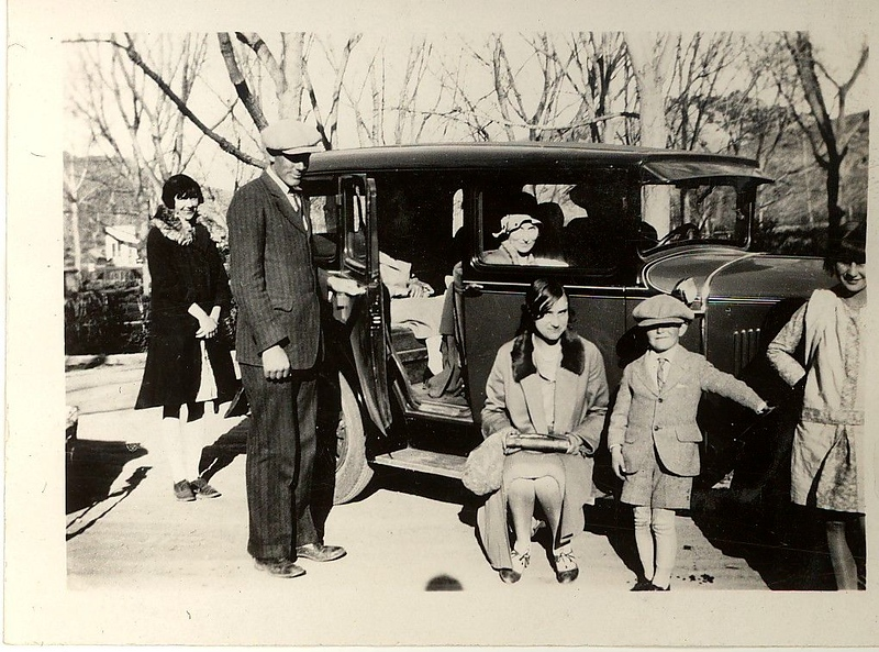 Jewel (Judy) and Ted Hill on left in Thermopolis, WY in Spring of 1930.