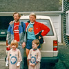 Jonathan Rodgers and Pete Thorbahn before the Cape Cod Marathon 1980's