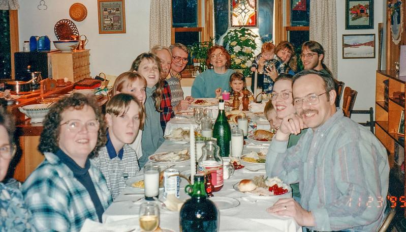 Thanksgiving gathering in Shokan 1995