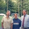 Jonathan Rodgers with Carole and Doug Fenton on Skaneateles Lake 1994
