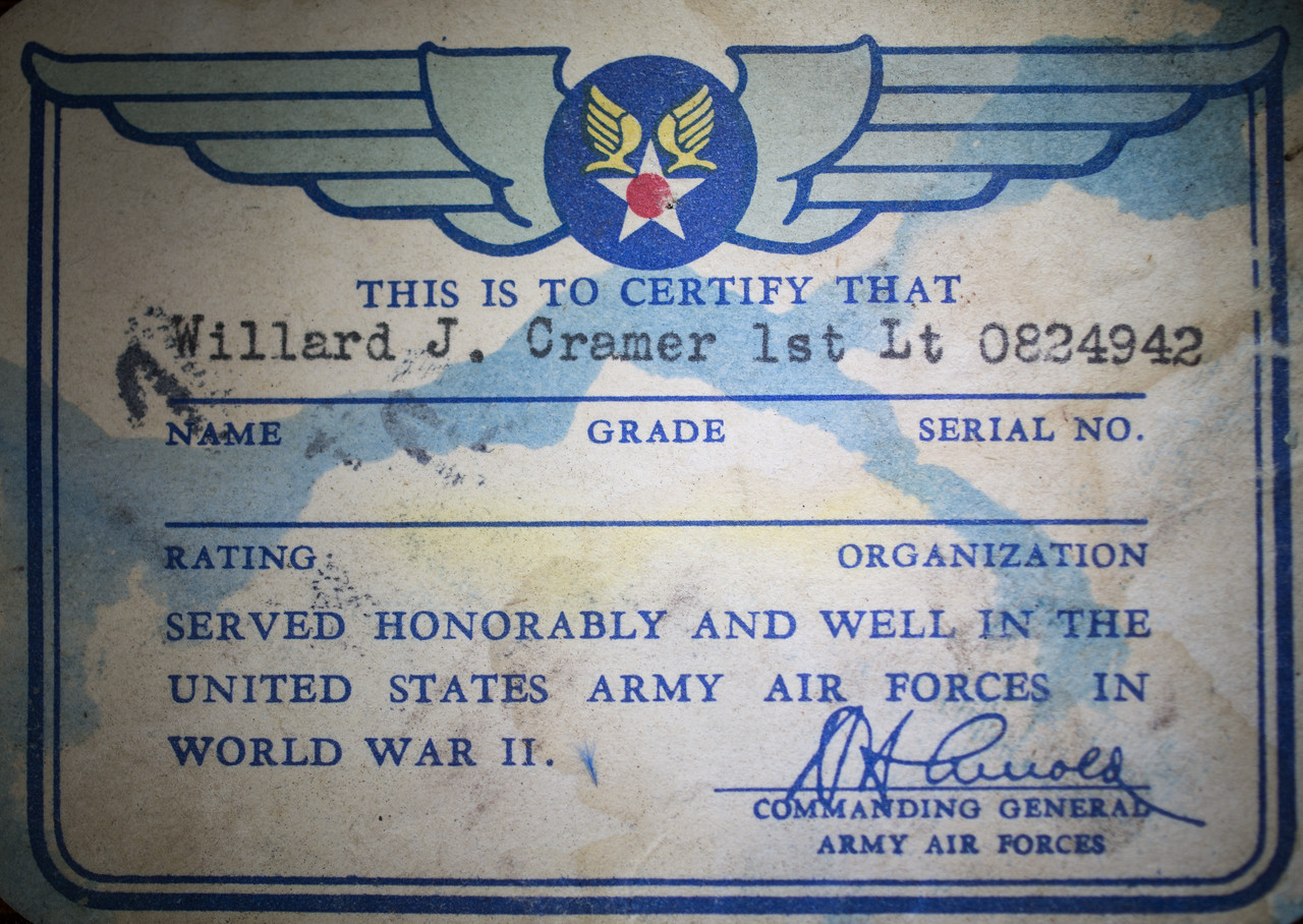 Honorable Discharge Card Poppa-7374