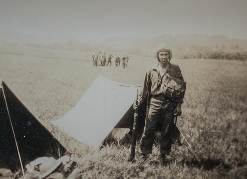 107 Cav Soldier on Bivouac-7404