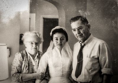 Mom Grandpa and Grandma Ohio 1956ish-