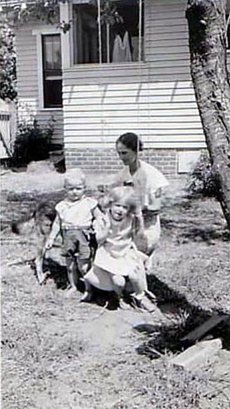 Gary and Jan with their grandmother, Lou Wise