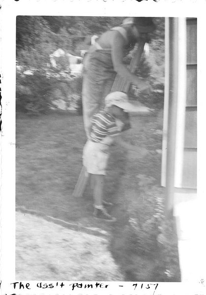 The assistant painter - Paul and Dad 7/57