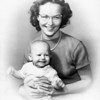 Pat Walsh Smith holding Joey Smith<br /> Los Angeles, CA<br /> 1950