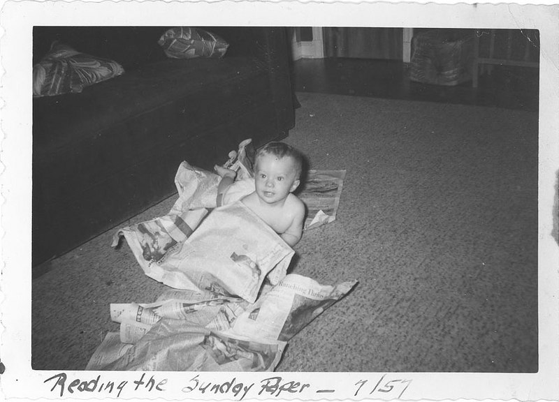 Reading the Sunday Paper - 7/57