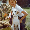 With Wolfie's dog Boris, 1983