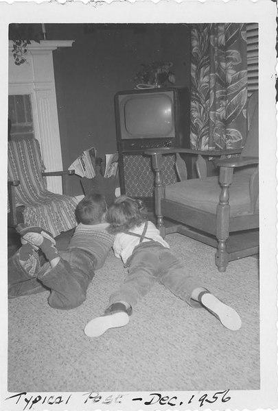 Typical pose - Dec 1956