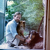 Self-portrait: Jon Rodgers with the original Bowsar and Jamie the Collie, Hamden CT 1980's
