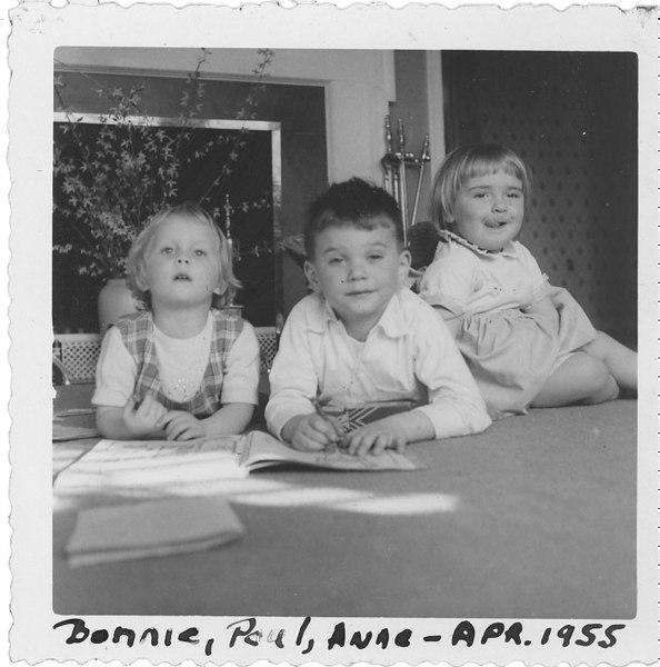 Bonnie Paul and Anne - Apr 1955