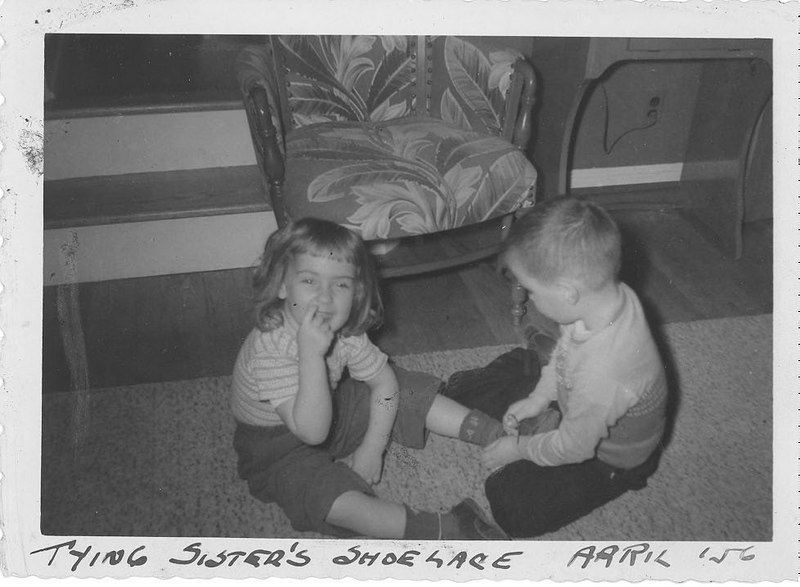 Tying Sister's Shoelace April 56