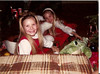 "Christmas 1981 - Ken & Cati/Pam's house<br /> ""he's a bigun""<br /> Jeannie & Stacy"