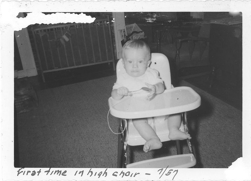 First time in high chair - 7/57