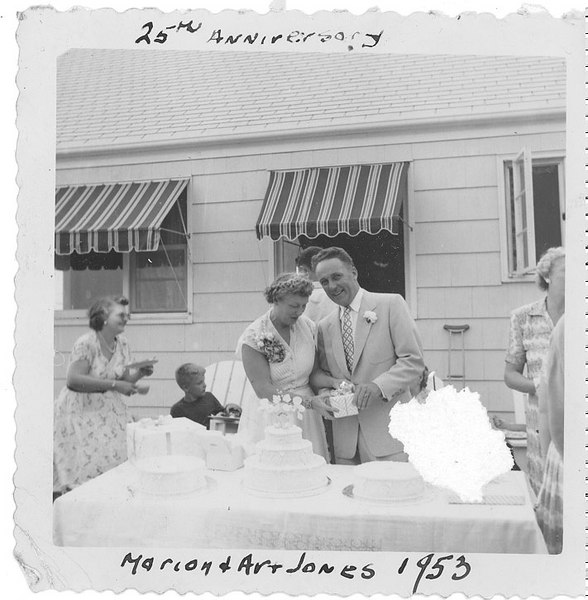25th Aniiverserary Marion and Art Jones 1953