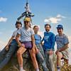 Paul Schliffer, Fred Rodgers,Annie Schliffer, Jon Rodgers, Rich Rubenstein on a mountain-top above Lake Chapala Near Ajijic, Jal.