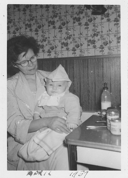 Mom and Roger Apri 1957