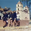 Kathey Smith, Patti Murphy, Mary Pat Smith, Colleen Connelly<br /> Santa Barbara Mission, 1971