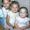 Joey (4), DD (Kathy) (3), and Mary Pat (1) Smith<br /> July 1954