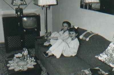 Ruth and her brother, Jim, in 1950