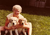 Mom and Last Two Puppies-Fall 1980