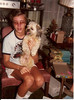 "December 1981<br /> Shawn Dorn & Snoopy<br /> ""My shaggy pup"""