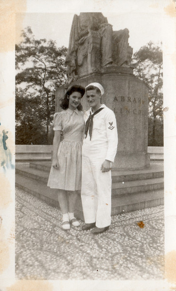 Old photo of grandma & grandpa