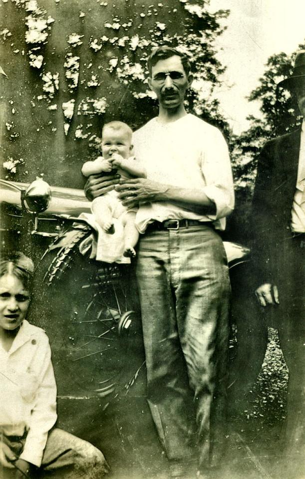 1929 - Uncle George, Uncle Gene, Grandpa Hample.