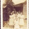 Aunt Milie, Uncle Frank, Aunt Elle Maude, Aunt Polly, Uncle Fred, Auint mary Lou - seated Grandma Pou